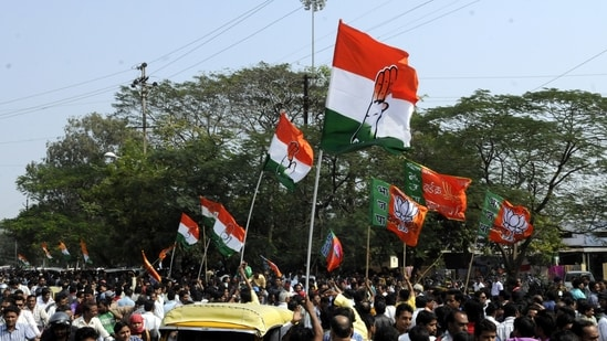 The BJP received five times more in political contribution compared to the Congress. (HT File)