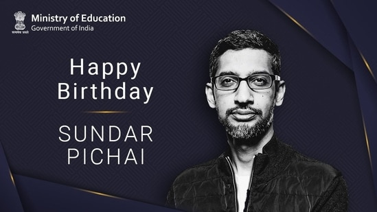 Ramesh Pokhriyal took to Twitter to share a message on Sundar Pichai's birthday.(Twitter/@DrRPNishank)