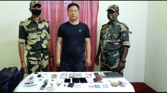 The accused has been identified as Han Junwe, a resident of Hubei. On Thursday after he managed to sneak into India through the international border at Malda he was spotted by the BSF. (PHOTO:SOURCED.)