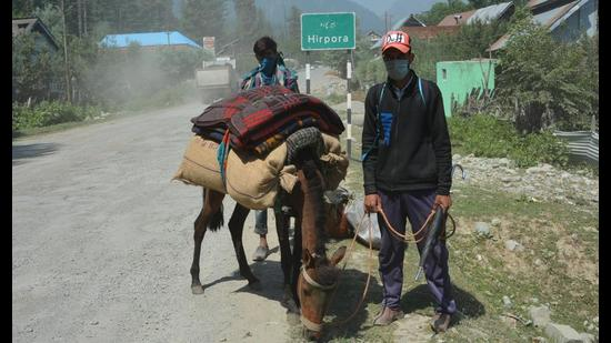 Hirpora, situated along the historical Mughal Road, has lowest positivity rate in the district. (Pic courtesy: Shopian Information department)
