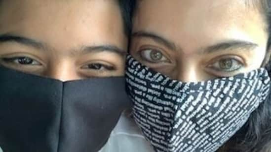 Kajol and her son Yug pose for a new Instagram picture.