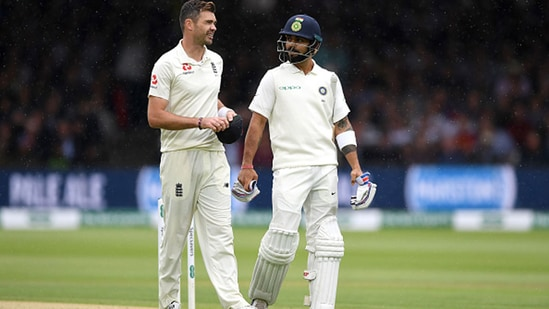 Virat Kohli and James Anderson in 2018. (Getty Images)