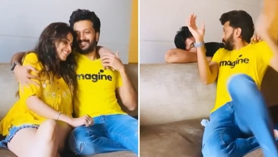 Riteish Deshmukh shared a funny video featuring his wife Genelia D'Souza.