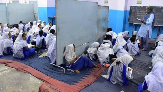 UP govt to train madarsa teachers about online mode of teaching(HT FILE PHOTO)