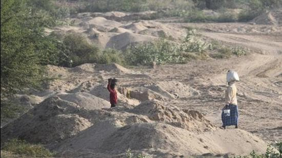 Illegal sand mining in Madhya Pradesh. (File photo)