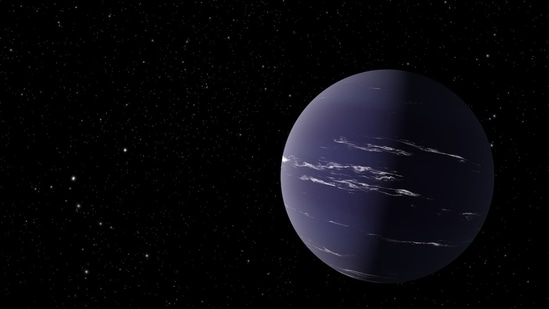 Artist's rendering of TOI-1231 b, a Neptune-like planet about 90 light-years away from Earth.(NASA/JPL-Caltech)