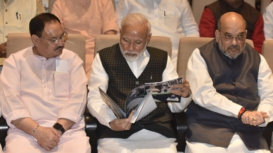 PM Modi met home minister Amit Shah and party chief Amit Shah on Friday. He also met several Union minister over the past few days. (Sonu Mehta/ Hindustan Times File Photo)