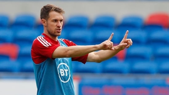 FILE PHOTO: Wales' Aaron Ramsey during the warm-up.(Action Images via Reuters)