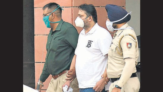 Arvind Singla, to whom the property's GPA was transferred before its sale, following his arrest on Friday. (Keshav Singh/HT)