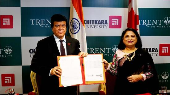 Transferring Chitkara University students will be eligible to apply for and secure a three-year post study work permit in Canada after their graduation. (Representative Image/HT Photo)