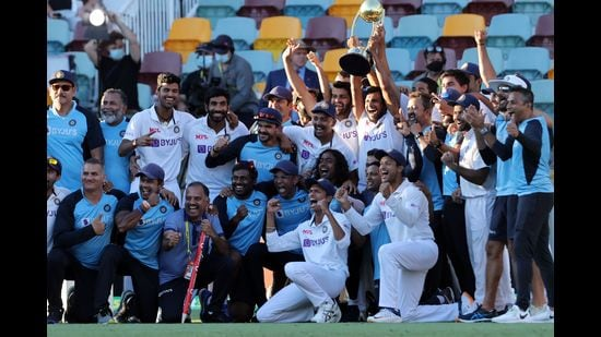The India Test team that beat Australia in Australia earlier this year. They were led by stand-in captain Ajinkya Rahane. (Getty Images)