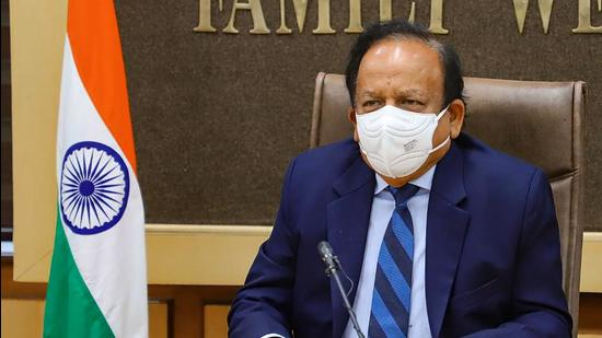Union health minister Harsh Vardhan attends the meeting of WHO's High-Level Coalition on Health & Energy on Wednesday, June 9. (PTI)