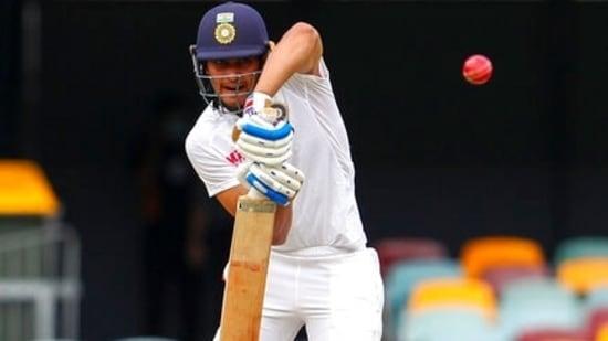 File photo India's Shubman Gill bats against Australia.(AP)
