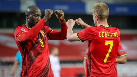 File Photo of Kevin de Bruyne (right) in action for Belgium.(Twitter)