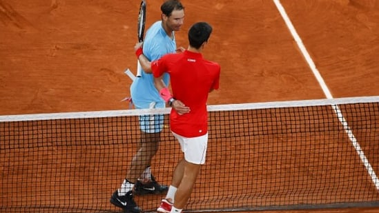 File Photo of Rafael Nadal and Novak Djokovic (in red) during the 2020 French Open final.(Getty Images)