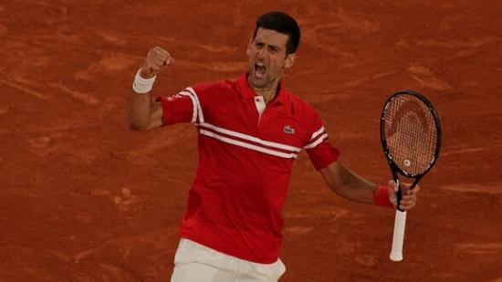 Novak Djokovic celebrates against Novak Djokovic(Getty Images)