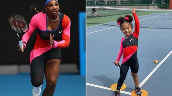 Serena Williams and her daughter Alexis Olympia Ohanian Jr.(Instagram/@serenawilliams and @olympiaohanian')