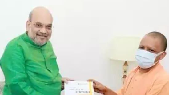 Union home minister Amit Shah and UP CM Yogi Adityanath (ANI)