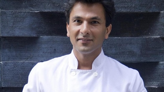 Vikas Khanna took to Twitter to share a post about his dog.(HT Photo)
