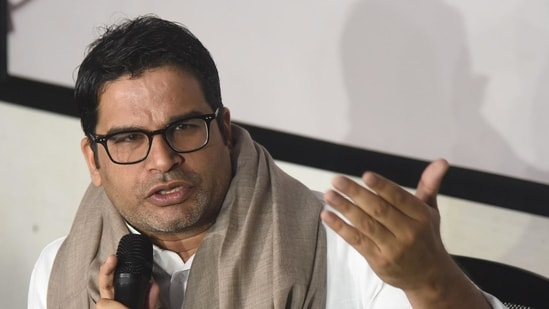 """Prashant Kishor said his meeting with Sharad Pawar was """"just a private courtesy meeting over lunch and nothing to do with politics"""".(Santosh Kumar/HT Photo)"""
