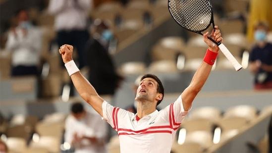 Novak Djokovic will face Stefanos Tsitsipas in Sunday's final. (US Open Tennis/Twitter)