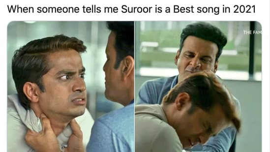 Twitter put The Family Man memes to use as Himesh Reshammiya released his song Suroor 2021.