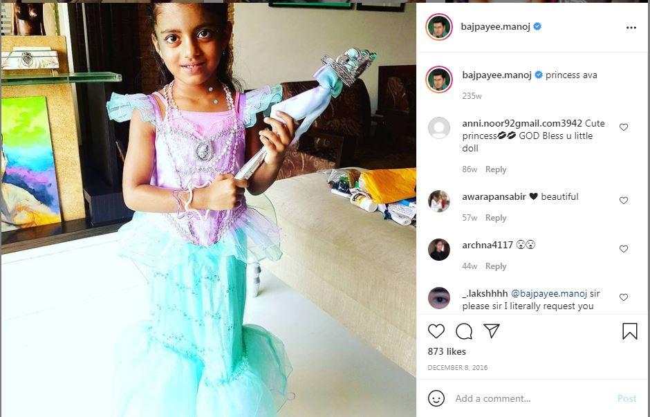 Sekilas postingan Manoj Bajabi tentang putrinya Ava.