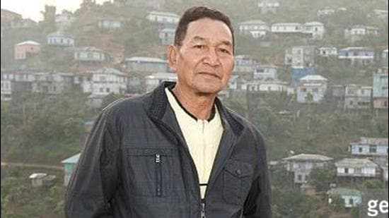 Ziona, was the head of Chana pawl, a minor Christian sect formed in 1942 in Mizoram by his father. The sect follows the practice of polygamy. (GETTY IMAGES.)