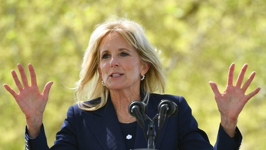 Jill Biden on using surfing as therapy: 'Water is so calming'(AFP)