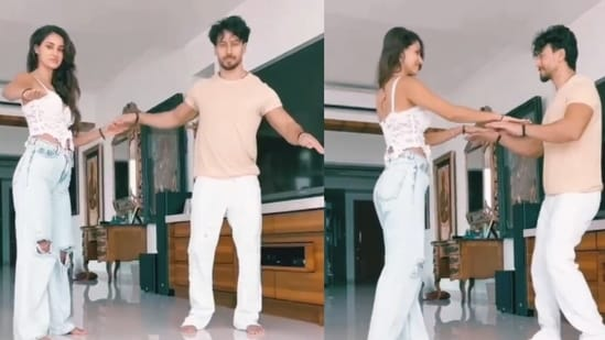 Tiger Shroff and Disha Patani groove in a video together.