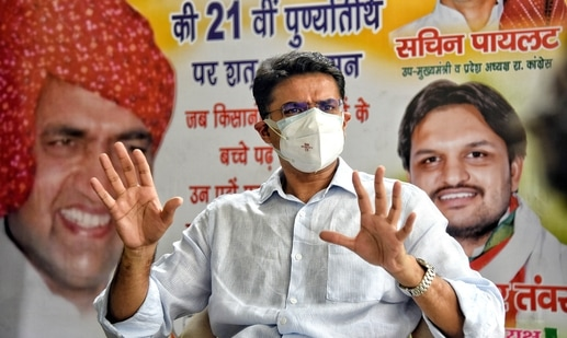 Sachin Pilot is in touch with Priyanka Gandhi and she has assured him of resolving the issues and asked him to be patient. (ANI Photo)