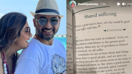 Shilpa Shetty shared a post about 'shared suffering'.