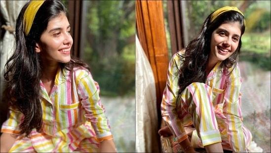 Sanjana Sanghi rocks candy look, sleep silhouette in tropical punch loungewear(Instagram/dandelion.india)