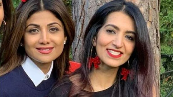 Shilpa Shetty with her sister-in-law Reena Kundra.
