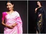 Ankita loves wearing mekhela chador and also finds it very comfortable to run marathons in. Here are seven times the Ankita flaunted her ethnic wear gracefully.(Instagram/ankita_earthy)