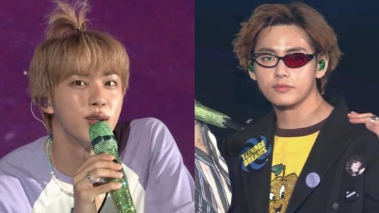 BTS singer Jin and V from BTS 2021 Muster Sowoozoo day 2.
