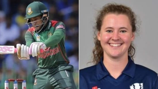 Mushfiqur Rahim (L), Kathryn Bryce (R) voted ICC Players of the Month for May 2021(HT Collage)