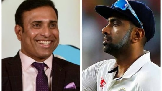 File Photos of VVS Laxman (left) and R Ashwin(HT Collage)