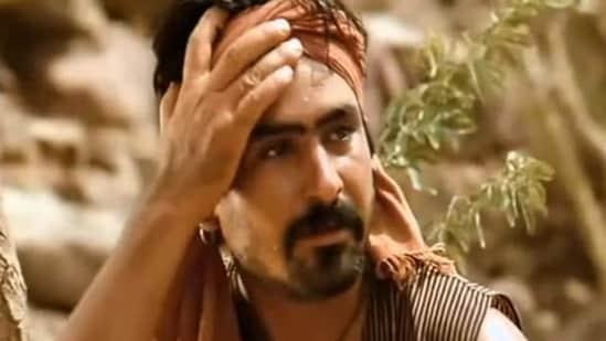 A still of actor Yashpal Sharma in Lagaan.