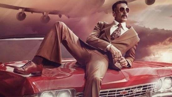 Akshay Kumar on the Bell Bottom poster.