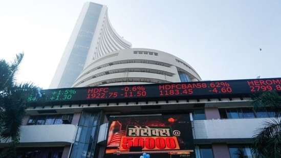 The 30-share BSE index ended 76.77 points or 0.15 per cent higher at 52,551.53.(File Photo)