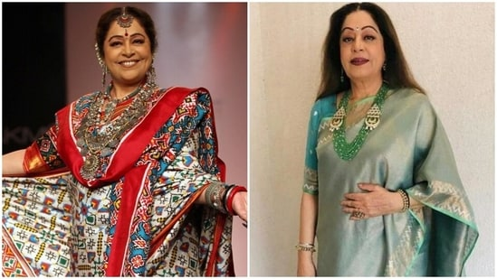 Kirron Kher birthday: A look at her elegant saree collection