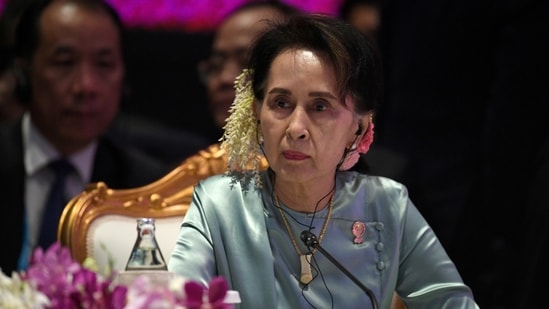 State Counsellor of Myanmar Aung San Suu Kyi.(REUTERS)