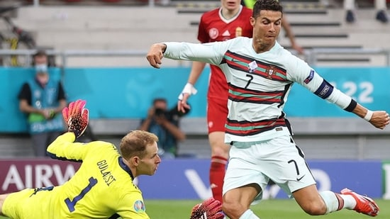 Cristiano Ronaldo scores twice against Hungary, becomes highest scorer in  Euros | Football News - Hindustan Times