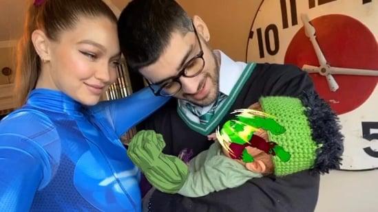 Gigi Hadid, Zayn Malik and baby Khai(Instagram)