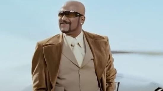 Rajinikanth in a still from the film, Sivaji The Boss.
