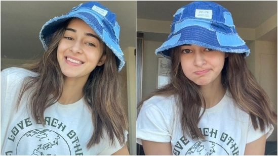 Ananya Panday in white graphic tee and denims gives us a cool summer look(Instagram/@ananyapanday)