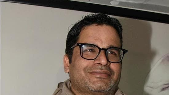Patna, India - Feb. 18, 2020: Prashant Kishor, the political strategist who was expelled from the Janata Dal(United) seen during a press conference, at his office, in Patna, India, on Tuesday, February 18, 2020. (Photo by Santosh Kumar / Hindustan Times)