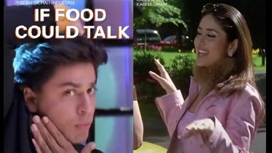 Netflix India featured Shah Rukh Khan's character from Phir Bhi Dil Hai Hindustani and Kareena Kapoor Khan's character from Kabhi Khushi Kabhie Gham.(Instagram/@netflixindia)