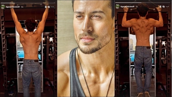 Tiger Shroff flaunts sculpted body in latest pull-ups video from the gym   Watch(Instagram/tigerjackieshroff)
